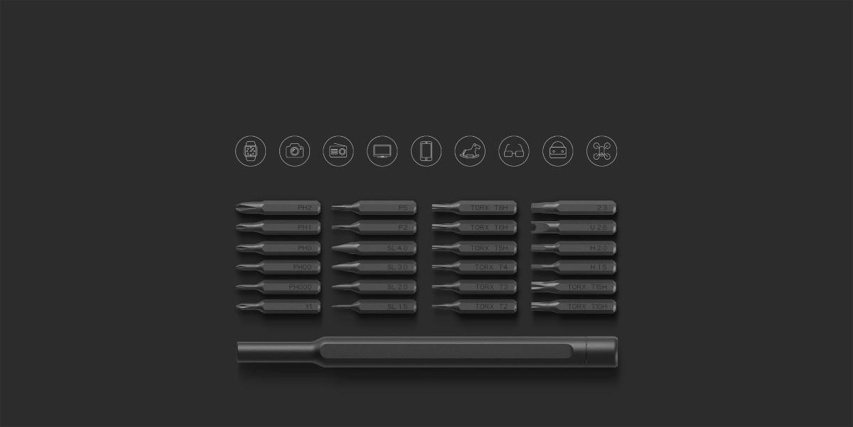 Xiaomi Wiha Zestaw wkrętaków precyzyjnych 24 w 1